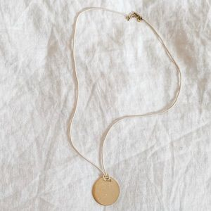 Madewell Gold Medallion Necklace